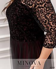 Платье женское батал №799Б-марсала| 56-58, фото 3