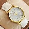 Модные наручные часы Geneva White/Gold/White 1037