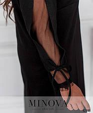 Платье женское батал №5346-чорний  50 52 54 56 58 60, фото 3