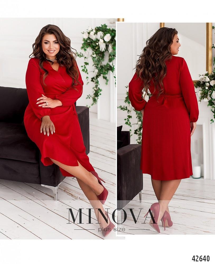 Платье женское батал №921-червоний  46-48 50-52 54-56 58-60