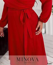 Платье женское батал №921-червоний  46-48 50-52 54-56 58-60, фото 3