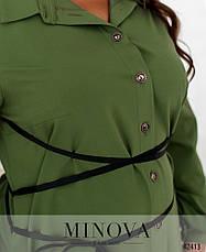 Платье женское батал №2077Б-зелений| 54-56, фото 3