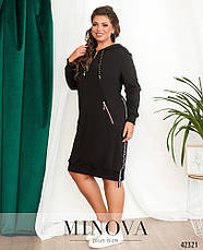 Платье женское батал №17-239-чорний| 52-54|56-58|60-62, фото 2