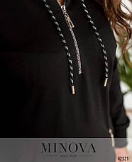 Платье женское батал №17-239-чорний| 52-54|56-58|60-62, фото 3