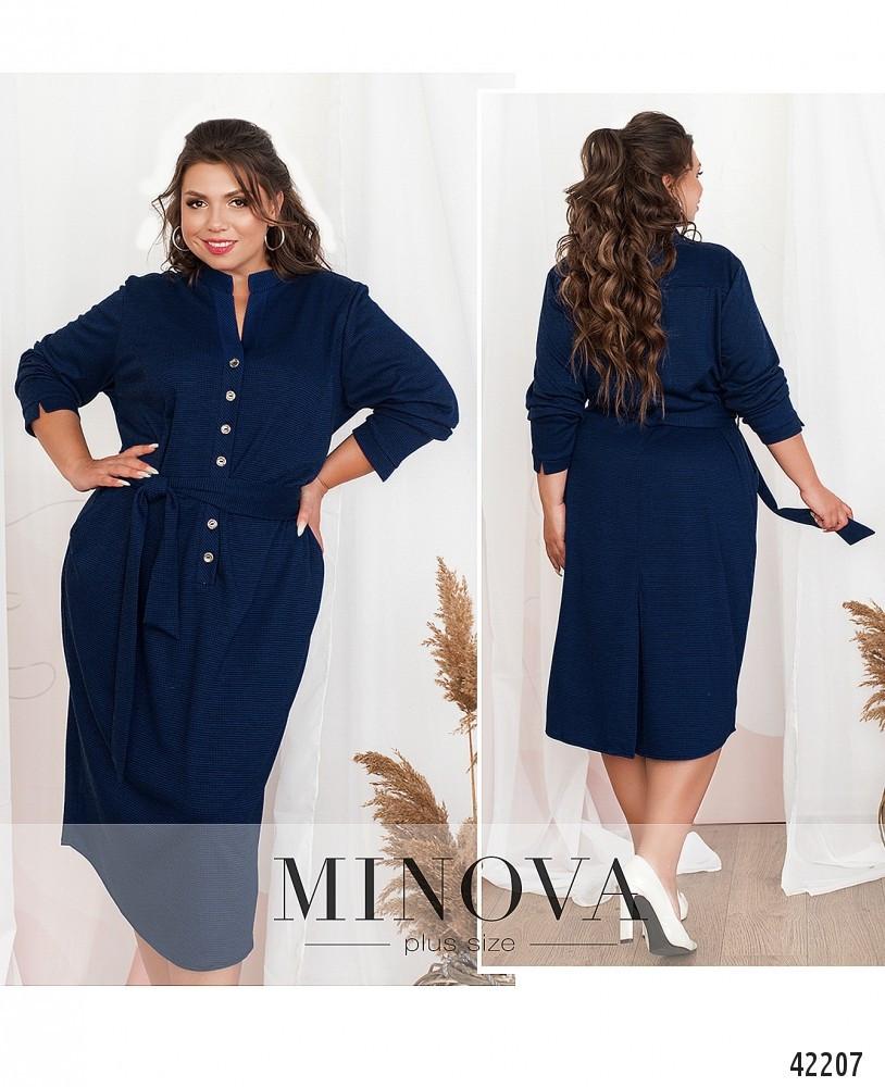 Платье женское батал №19-038-синій| 52|54|56|58|60
