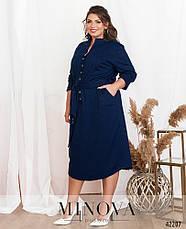 Платье женское батал №19-038-синій| 52|54|56|58|60, фото 2