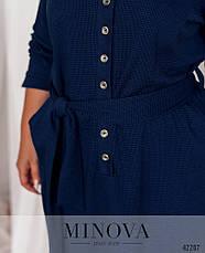 Платье женское батал №19-038-синій| 52|54|56|58|60, фото 3