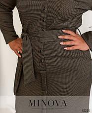 Платье женское батал №18-01-Темно-бежевий| 48|50|52|54, фото 3