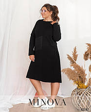 Платье женское батал №9146Б-чорний| Універсальний(48-54), фото 2