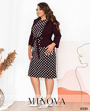 Платье женское батал №536-марсала  56, фото 2
