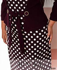 Платье женское батал №536-марсала  56, фото 3