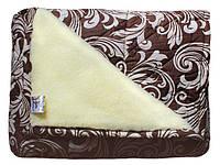 """Теплое двойное одеяло из овечьей шерсти хлопок """"Мех овчины"""" размер 180х210 см, разные цвета"""