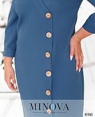 Платье женское батал №4174-1-джинс  50 52 54 56-58, фото 3