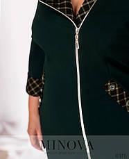 Платье женское батал №17-230-зелений| 52|54|56|58|60, фото 3