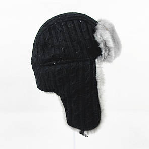 "Зимова шапка-вушанка з штучним хутром ""Stella"""