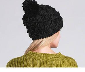 """Красива в'язана жіноча шапка """"Karen"""""""