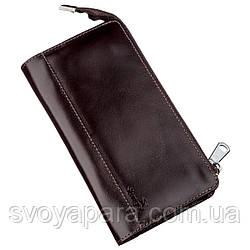 Клатч мужской кожаный SHVIGEL 16184 Коричневый