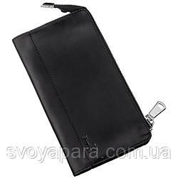 Клатч кожаный матовый SHVIGEL 16191 Черный