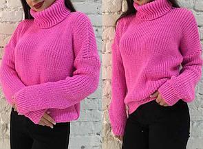 """Модный теплый женский вязаный свитер оверсайз """"Арчи"""" универсальный размер 42-52, много цветов"""