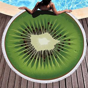 """Крутий пляжний килимок для селфи """"Ківі"""". Стильний пляжний килимок Ківі 150х150"""