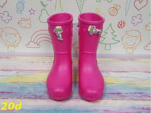 """Детские резиновые сапоги непромокаемые розовые """"Дельфинчик"""""""