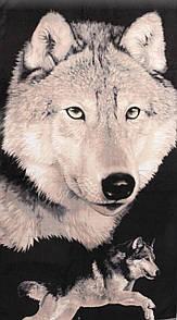 """Стильное пляжное полотенце 70х140 см """"Волк"""""""