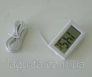 Термометр с выносным датчиком 1 метр, встраиваемый, белый., фото 2