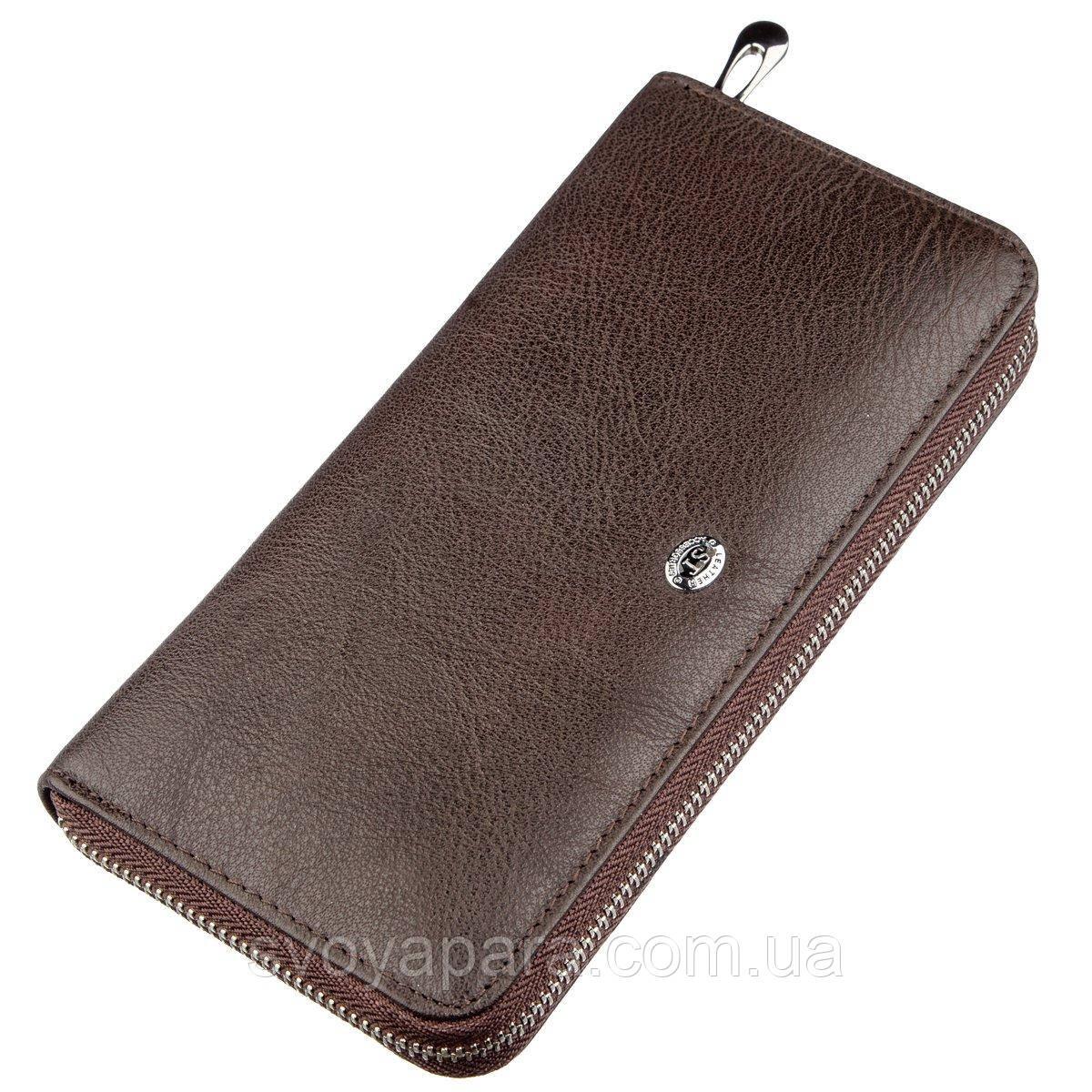 Вертикальний жіночий гаманець ST Leather 18860 Коричневий