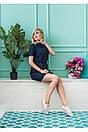 """Стильное молодежное летнее женское льняное платье больших размеров """"Филлисе"""", фото 2"""