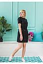"""Стильное молодежное летнее женское льняное платье больших размеров """"Филлисе"""", фото 8"""
