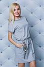 """Модное повседневное женское трикотажное платье с нашивками """"Флауэр"""", фото 8"""