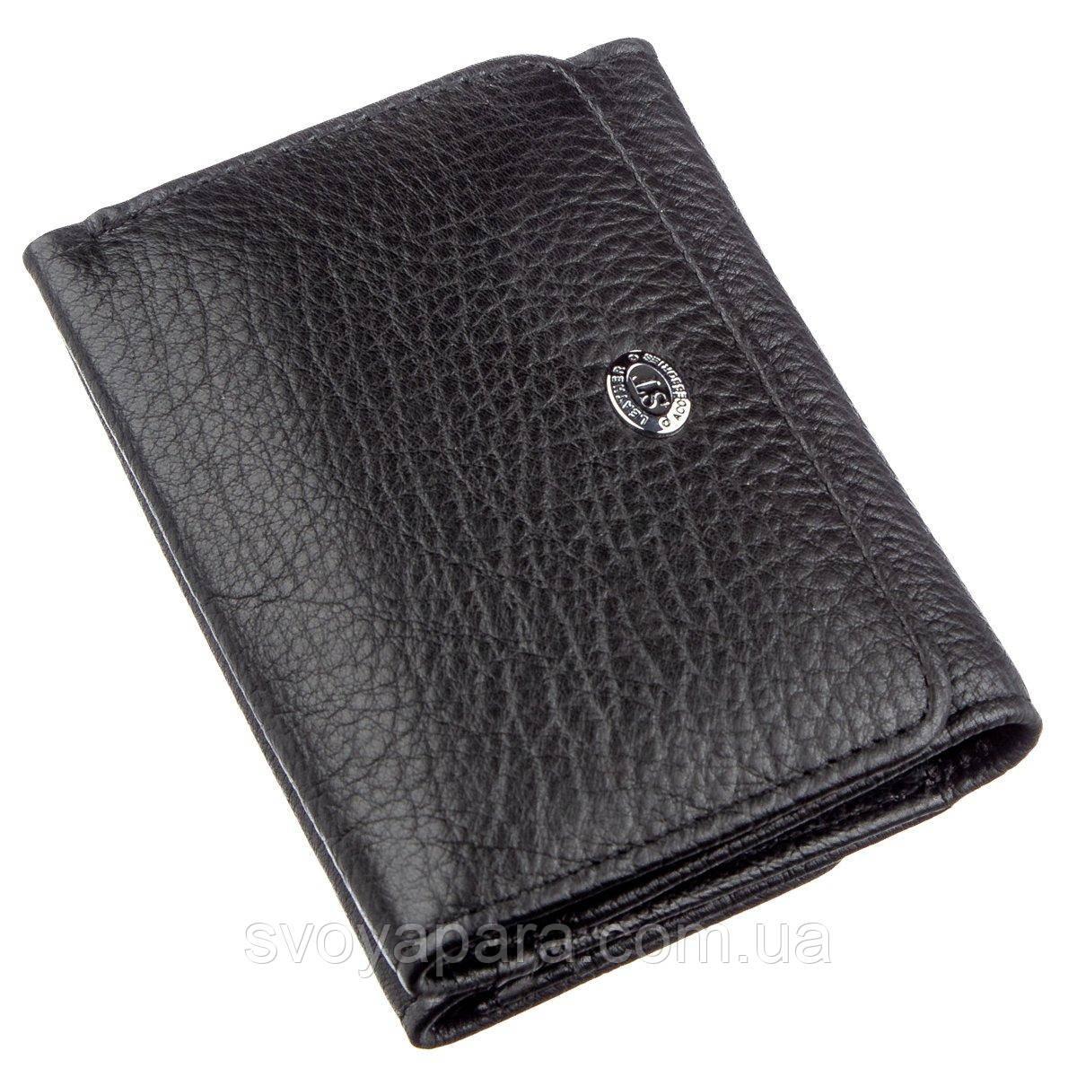 Гаманець для жінок зі шкіри ST Leather Чорний 18886