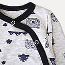 """Хлопковый детский комбинезон человечек на кнопках """"Bear"""", фото 2"""