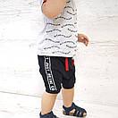 """Летний костюм для мальчика шорты и футболка """"Start"""" - рост 80/86/92/98, в расцветках, фото 2"""