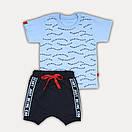 """Летний костюм для мальчика шорты и футболка """"Start"""" - рост 80/86/92/98, в расцветках, фото 3"""