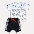 """Летний костюм для мальчика шорты и футболка """"Start"""" - рост 80/86/92/98, в расцветках, фото 4"""