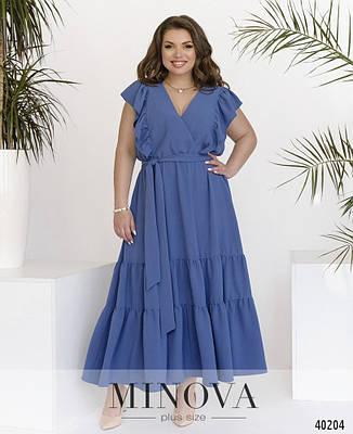 Платье женское батал №4177-1-джинс| 48-50, фото 2