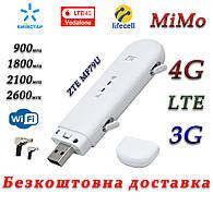 Мобильный модем 4G+LTE+3G WiFi Роутер ZTE MF79U Киевстар, Vodafone, Lifecell с 2 выходами под антенну MIMO
