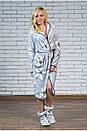 """Жіночий халат махровий з капюшоном """"Лілія"""", фото 2"""