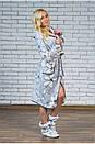 """Жіночий халат махровий з капюшоном """"Лілія"""", фото 3"""