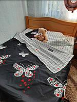Полуторный комплект комбинированого постельного белья, бязь Голд Люкс, 150х220 см