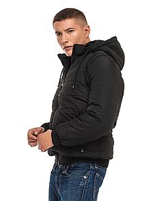 """Стильна зимова чоловіча куртка з капюшоном великих розмірів """"Лев"""""""