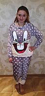 Заяц банни,теплая пижама,фланель