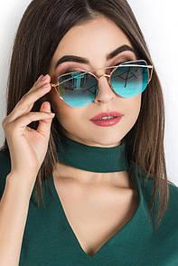 """Жіночі сонцезахисні окуляри Dior """"Дуга 1"""" (репліка)"""
