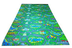 Детский игровой развивающий коврик 2500х1100х8мм «Городок», Игровые коврики для детей