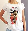 """Жіноча футболка зі стильним принтом """"Baby"""", фото 2"""