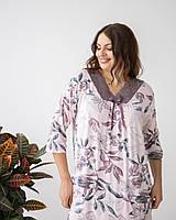 """Красивая женская ночная рубашка больших размеров """"Лайза"""""""
