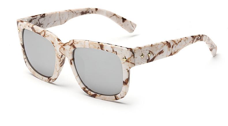 """Cтильные солнцезащитные женские очки под мрамор """"Agata"""""""