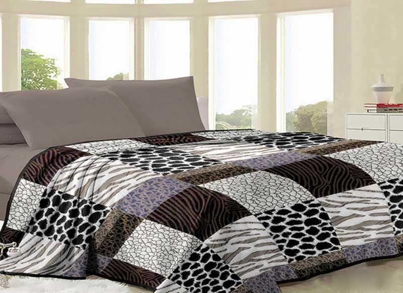 """Красивый флисовый плед на кровать """"Miranda"""" Двойной размер"""