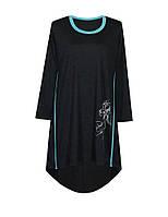 Модное платье с напуском по спине и праздничным принтом ИРИСЫ, фото 1